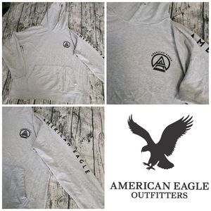 AEO Men's Grey Basic Comfortable Warm Hoodie XL